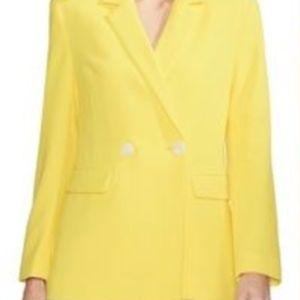 Vince Daybreak Yellow Single Button Blazer